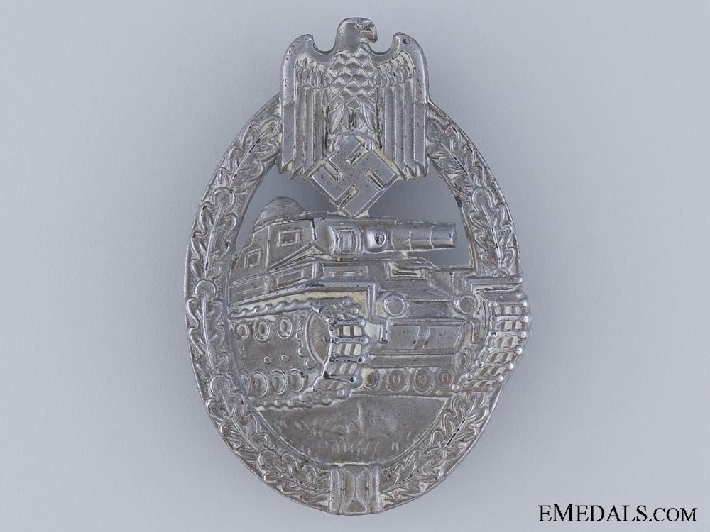 eMedals-A Silver Grade Tank Badge by E. F. Wiedmann