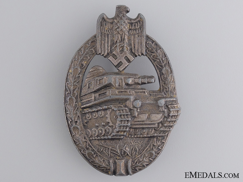eMedals-A Silver Grade Tank Badge by A.S.