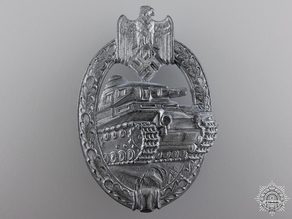 eMedals-A Silver Grade Tank Badge by Adolf Scholze