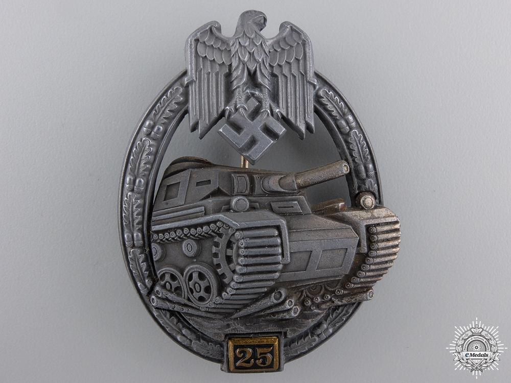 eMedals-A Bronze Grade Tank Badge; Special Grade 25 by Gustav Brehmer