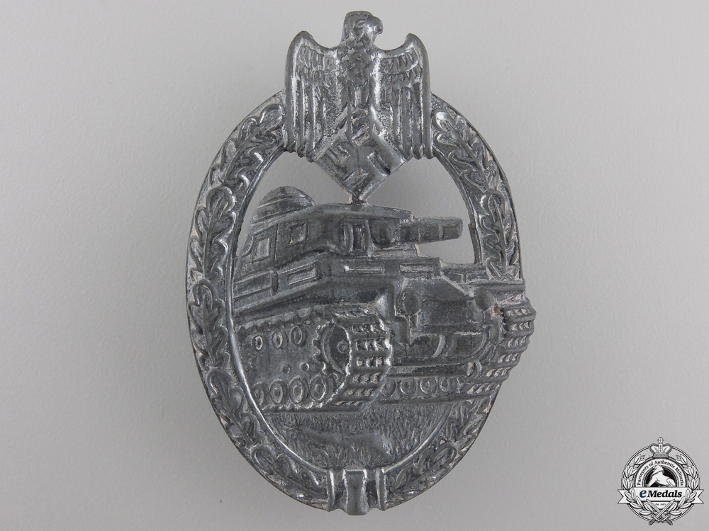 eMedals-A Silver Grade Tank Assault Badge by Rudolf Karneth & Söhne, Gablonz