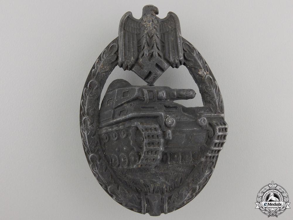 eMedals-A Silver Grade Tank Assault Badge by Assmann