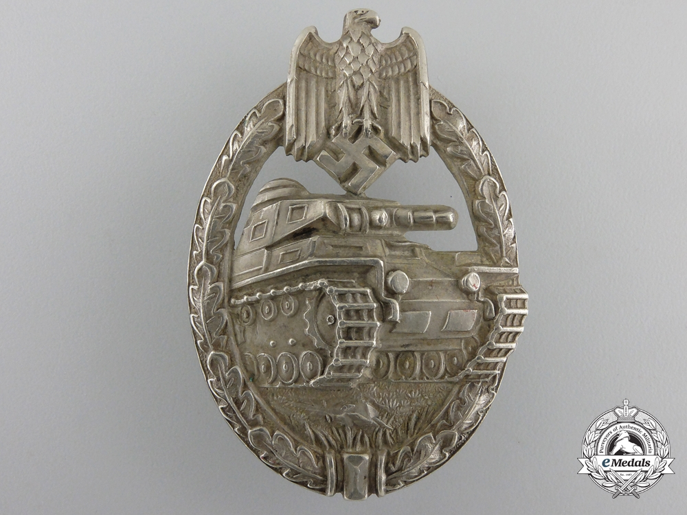 eMedals-A Silver Grade Tank Badge by Juncker