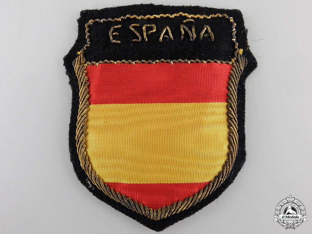 eMedals-A Sleeve Shield of the Spanish Blue Division, Officer's Version