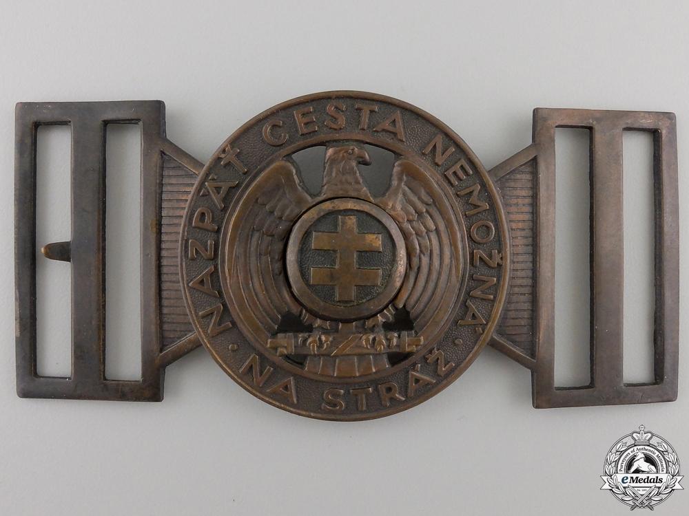 eMedals-A Slovakian Hlinka Guard Leader's Belt Buckle