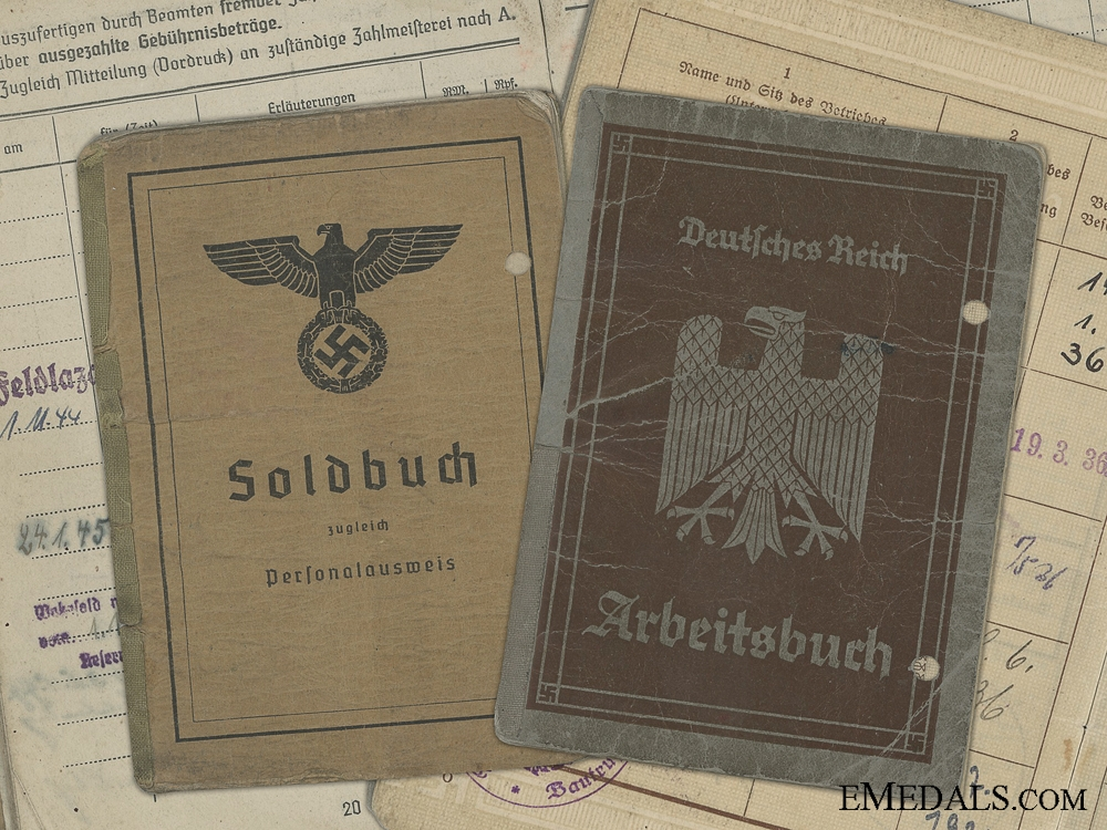 eMedals-A Soldbuch to the 3rd Panzer J¡_ger Battalion; Wounded