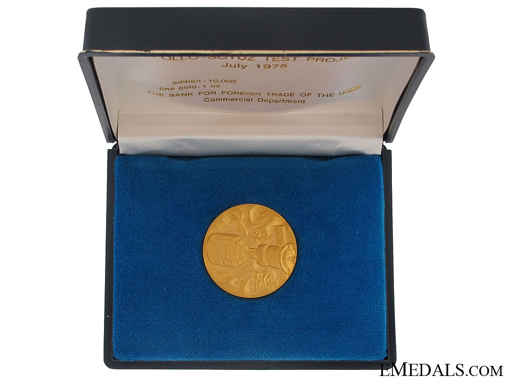 eMedals-A Solid GOLD Apollo-Soyuz Test Project Commemorative Medal