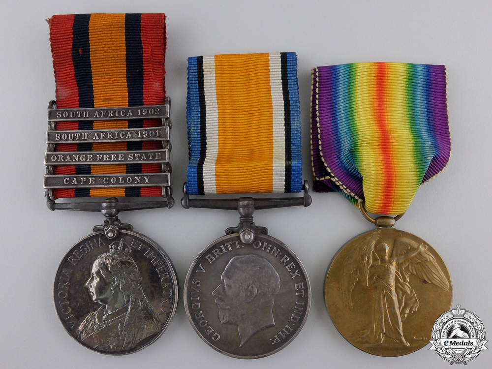 eMedals-A South Africa & First War Group to the Worcester Regiment