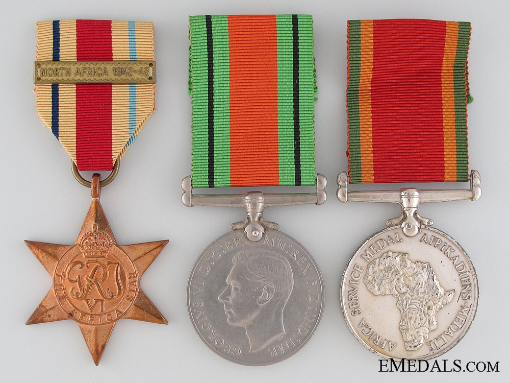 eMedals-A South African WWII Group of Three