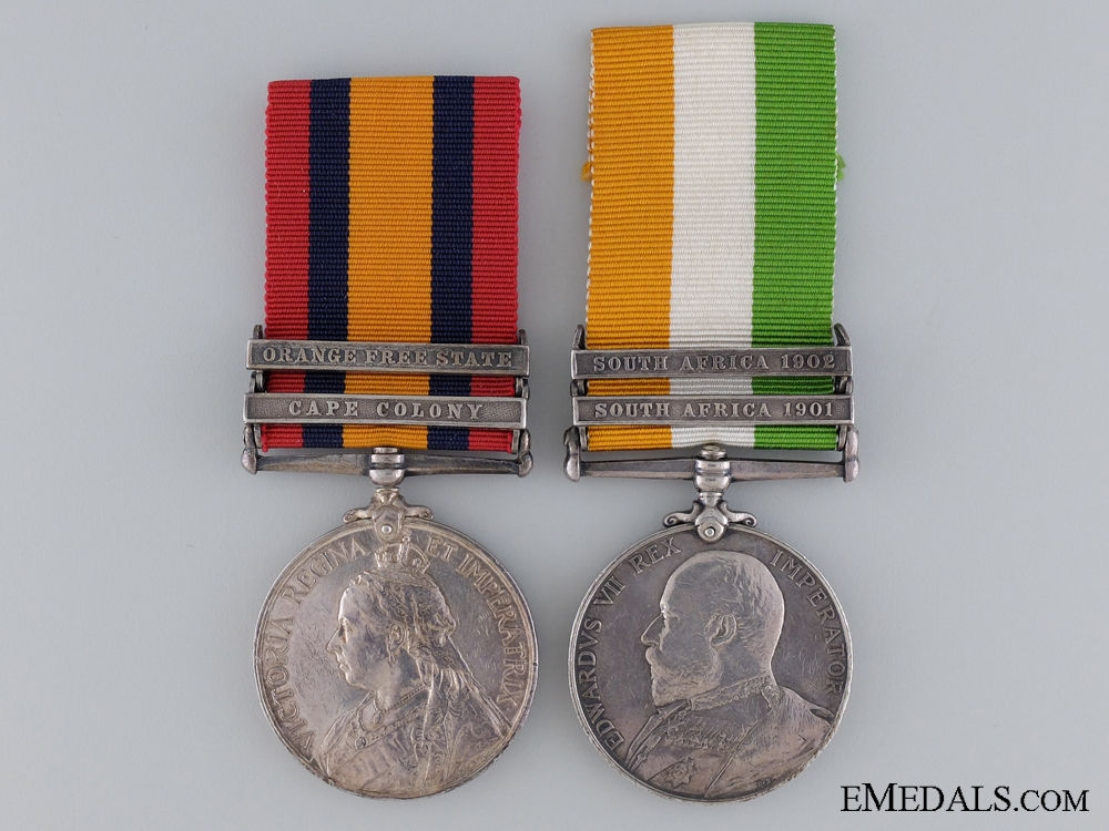 eMedals-A South African War Pair to the King's Own Royal Regiment