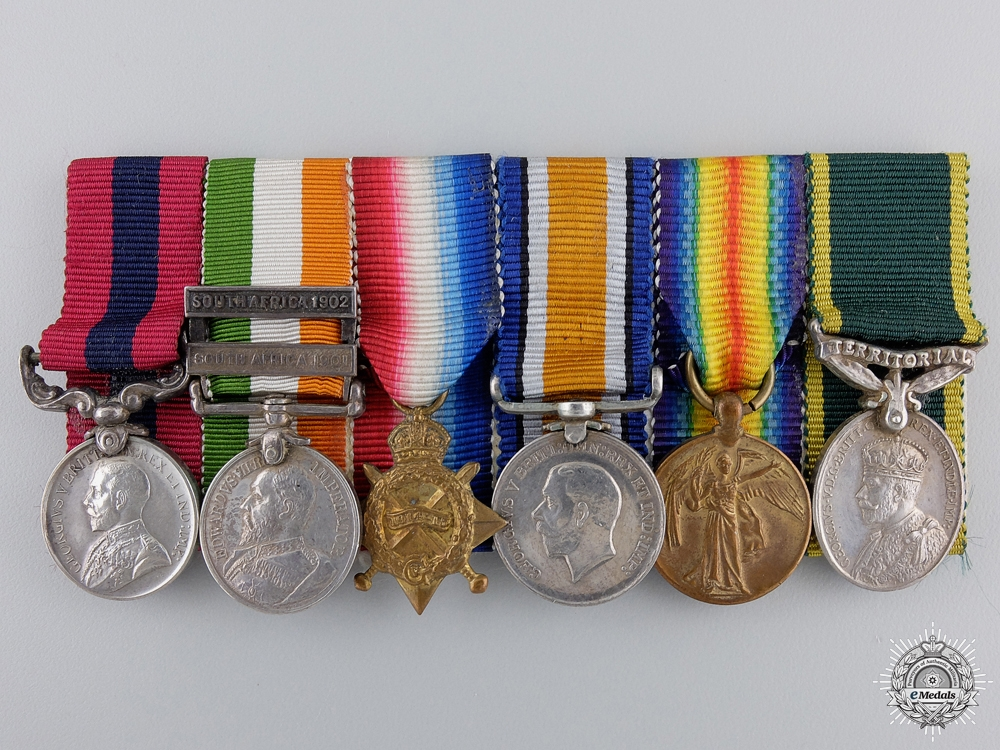 eMedals-A South African & First War Distinguished Conduct Medal Miniature Group