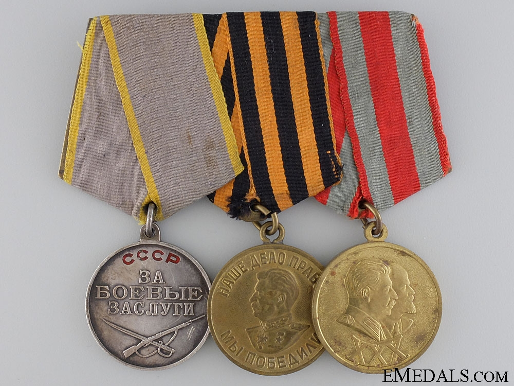 eMedals-A Soviet Medal with Three Awards
