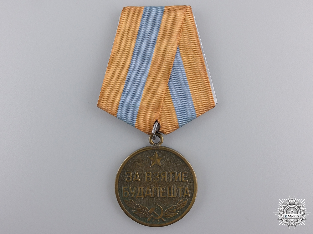 eMedals-A Soviet Medal for the Capture of Budapest;  Variation 1