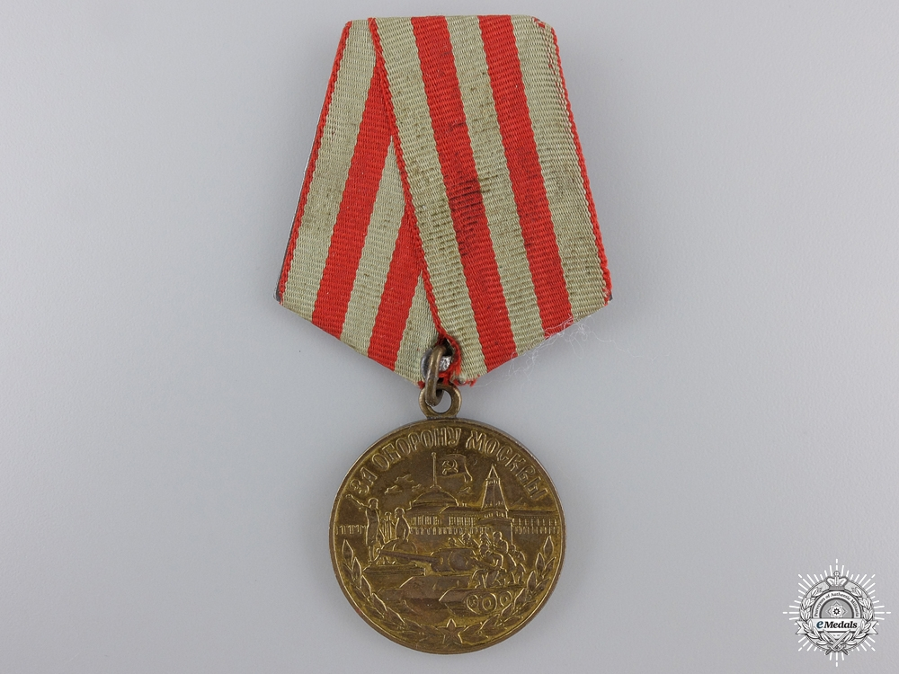 eMedals-A Soviet Medal for the Defence of Moscow
