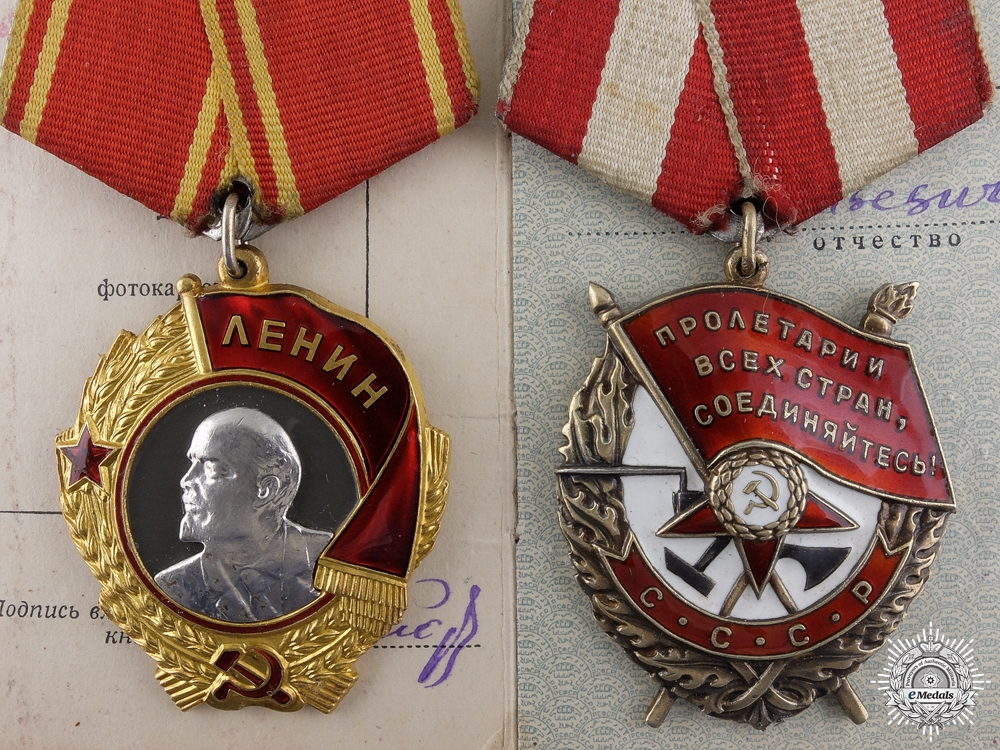 eMedals-A Soviet Order of Lenin Bravery Pair to Mikhail Maiorov
