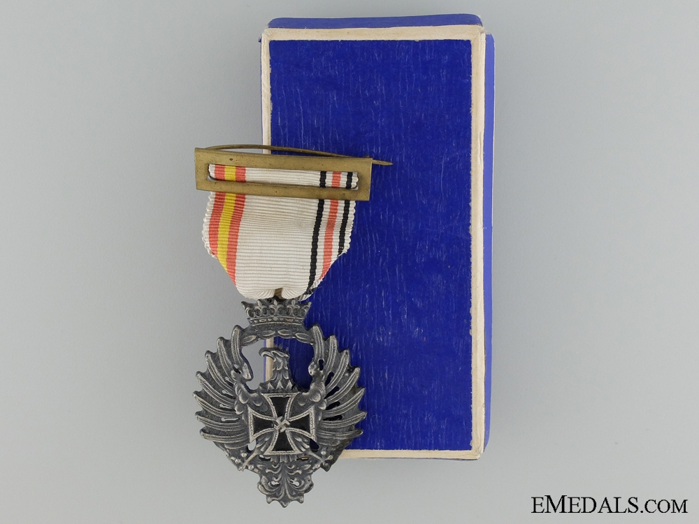 eMedals-A Spanish Blue Division Medal in Case of Issue