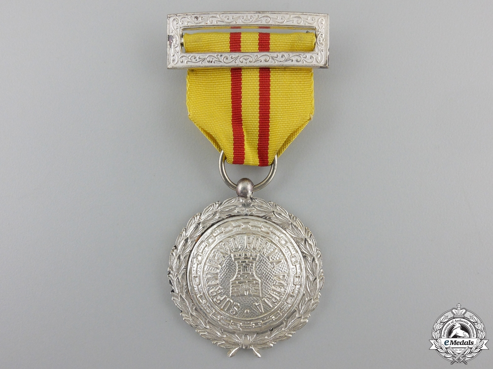 eMedals-A Spanish Civil War Period Patriotic Suffering Medal for Foreigners, Silver Grade for NCOs and Enlisted Men
