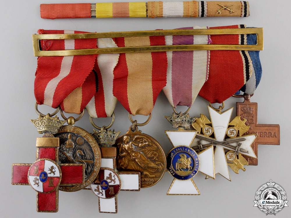 eMedals-A Spanish Civil War Military Merit & Eagle Order Medal Group