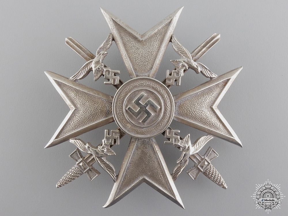 eMedals-A Spanish Cross in Silver with Swords by C.E. Juncker