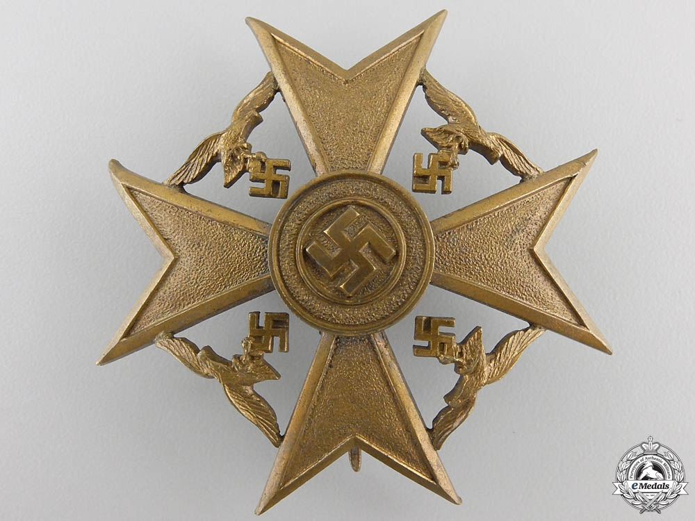 eMedals-A Spanish Cross in Bronze without Swords by P. Meybauer