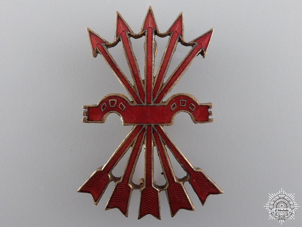 eMedals-A Spanish Falange Officer's Cap Badge