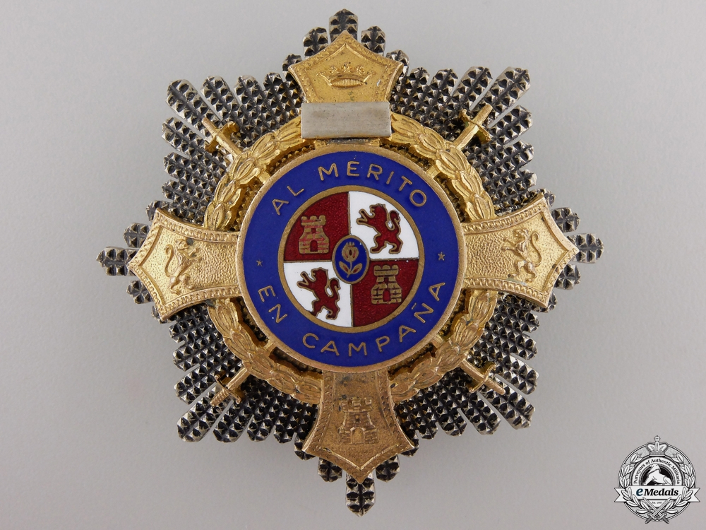 eMedals-A Spanish Franco Era War Cross; Breast Star