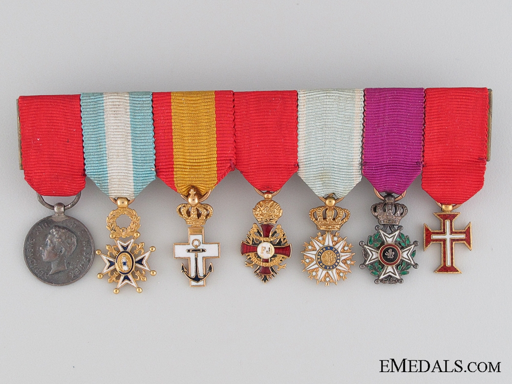 eMedals-A Spanish Miniature Medal Bar