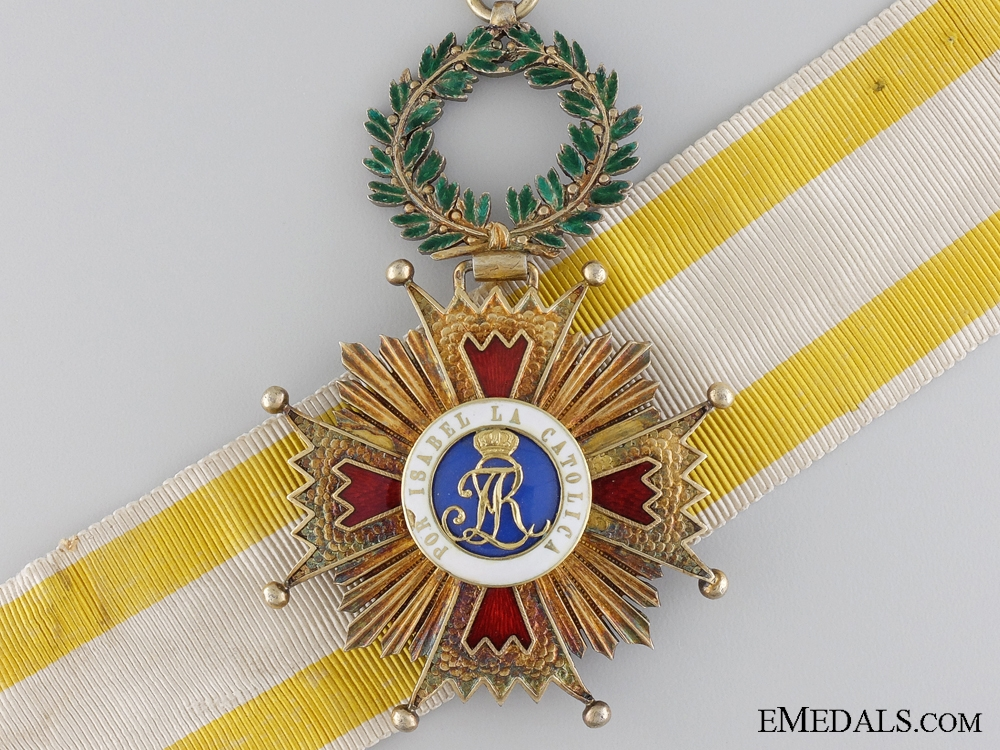 eMedals-A Spanish Order of Isabella; 1875-1931 Commanders Cross