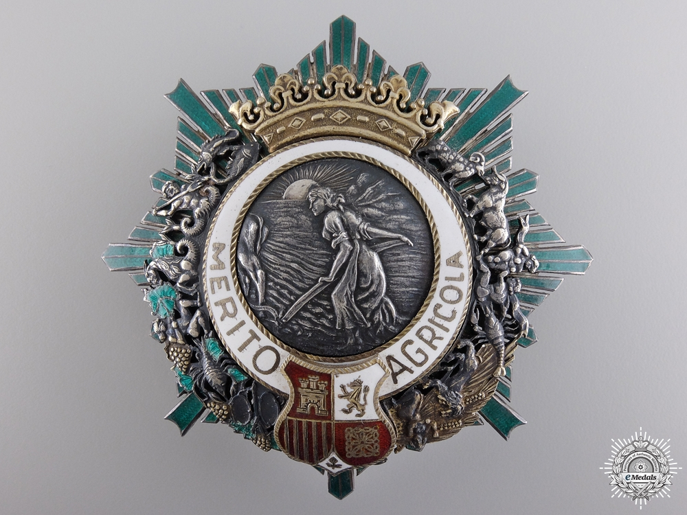 eMedals-A Spanish Order of Agricultural Merit; Breast Star