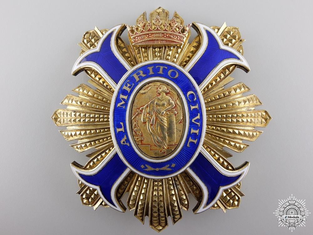 eMedals-A Spanish Order of Civil Merit; Grand Cross