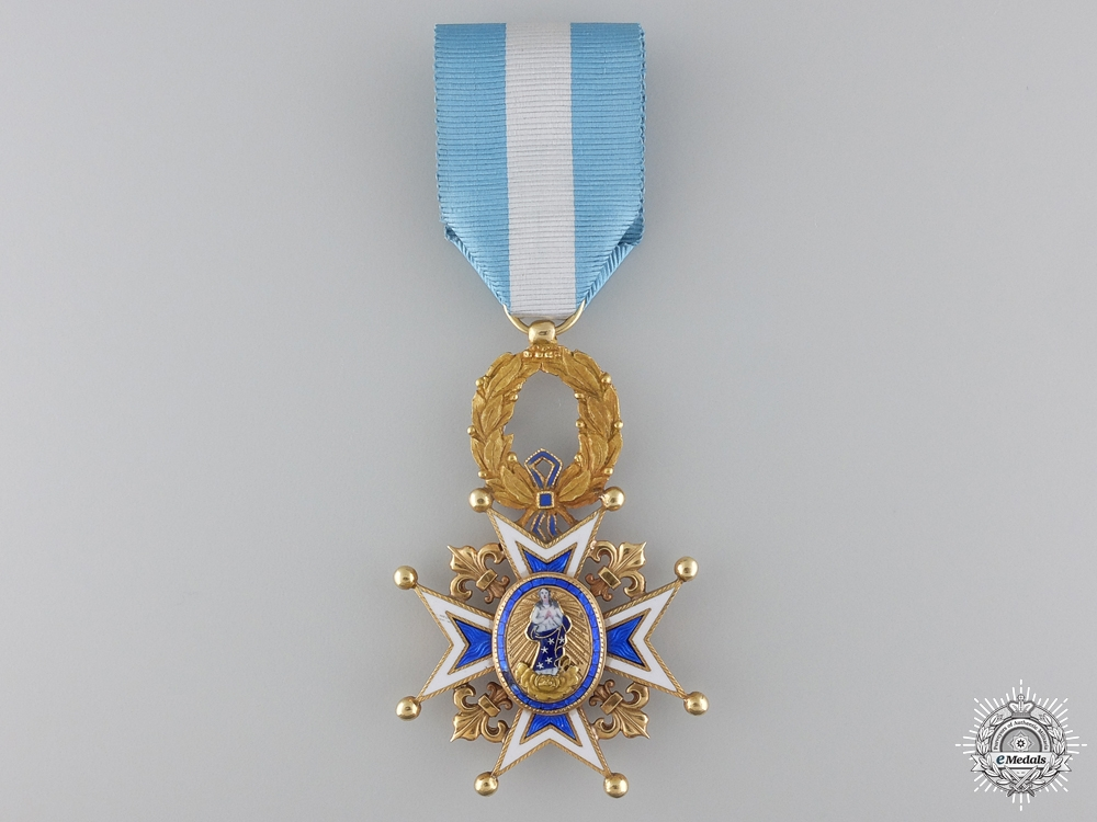 eMedals-A Spanish Order of Charles III in Gold; Officer's Cross