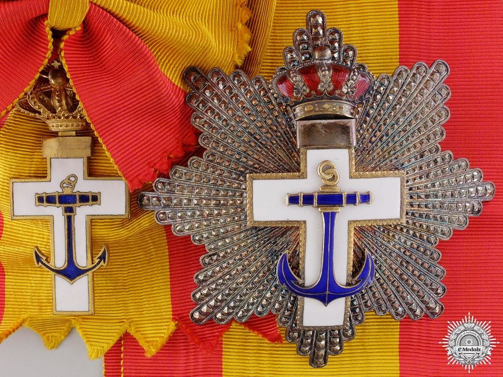 eMedals-A Spanish Order of Naval Merit; Grand Cross Set