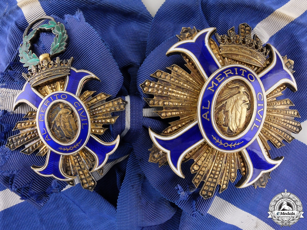eMedals-A Spanish Order of Civil Merit; Grand Cross Set