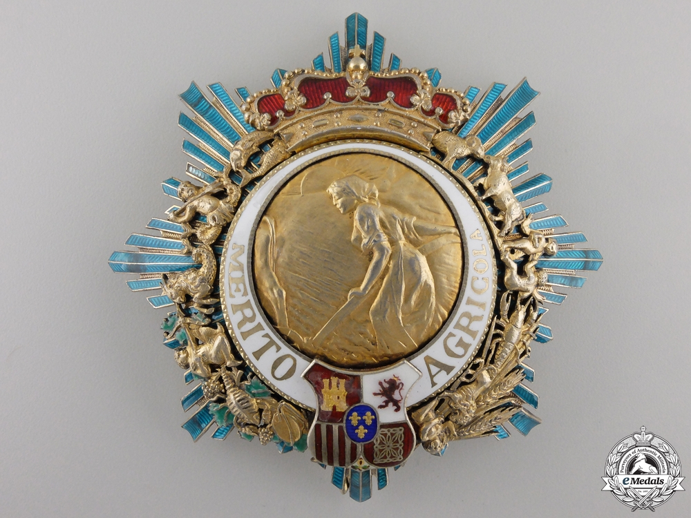 eMedals-A Spanish Order for Agricultural Merit; Grand Cross Breast Star