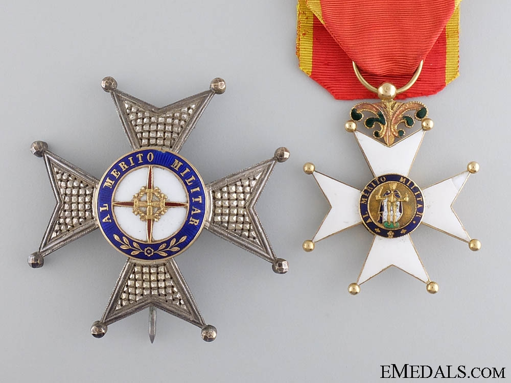 eMedals-A Spanish Royal Military Order of St. Ferdinand;officer