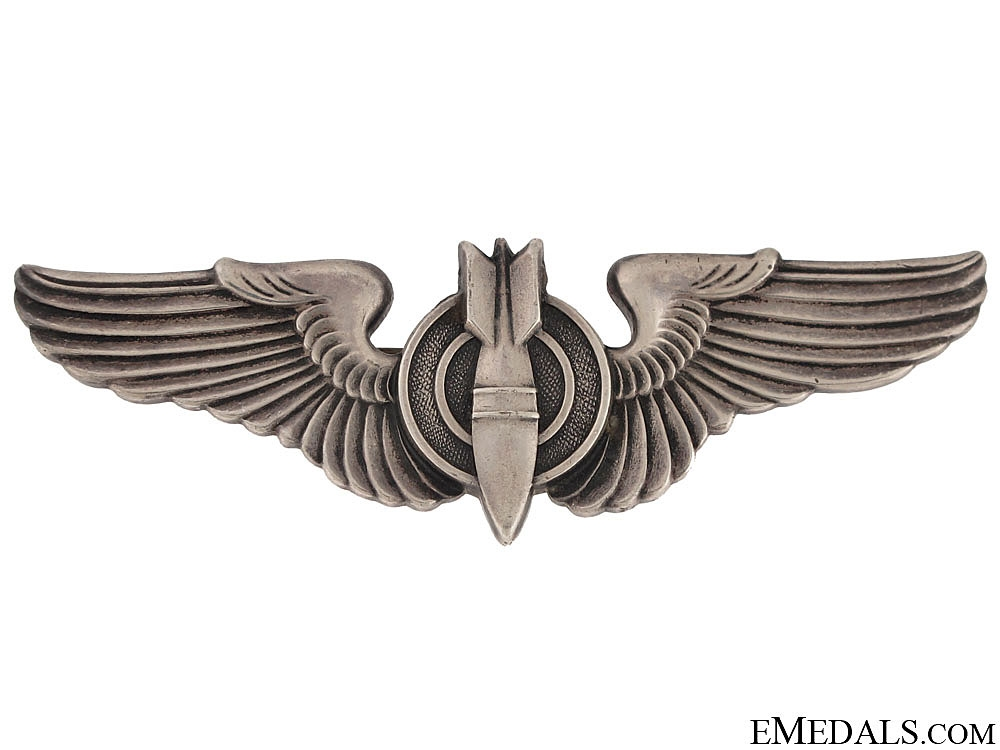 eMedals-A Sterling Silver WWII Bombardier Wing