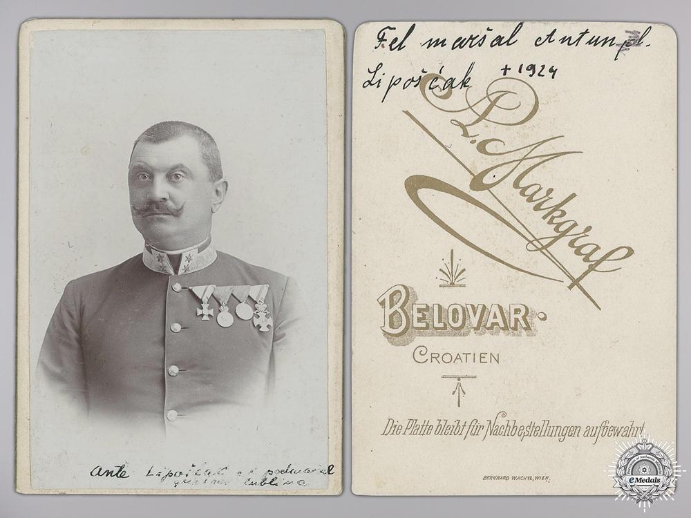 eMedals-A Studio Photo of Croatian General Anton Lipošćak