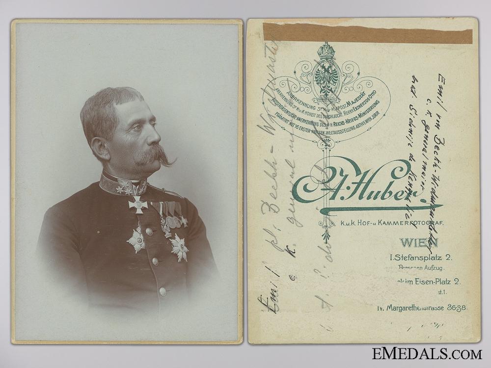 eMedals-A Studio Portrait of Major General Emil von Beckh Widmanstatten