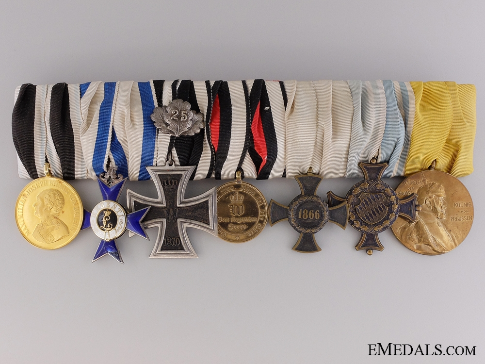 eMedals-A Superb 1870-71 Bavarian Group of Seven Awards