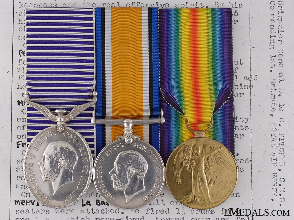 eMedals-A Superb DFM Group to Herbert Hunt Credited for Eleven Enemy Victories