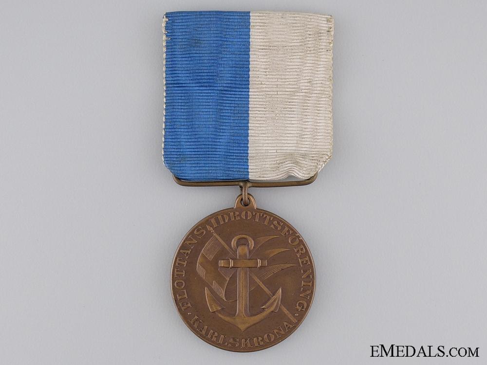 eMedals-A Swedish Karlskrona Navy Sports Association Medal