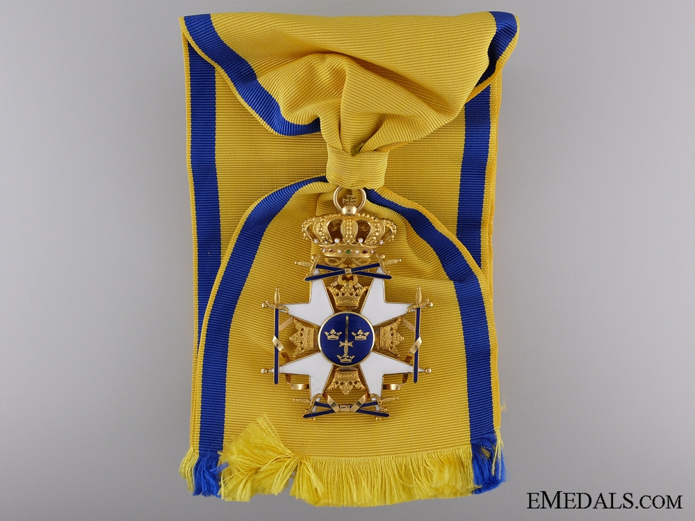 eMedals-A Swedish Order of the Sword; Grand Cross in Gold
