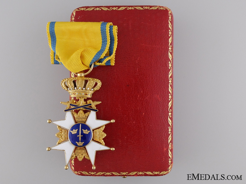 eMedals-A Swedish Order of the Sword in Gold; Knight's First Class
