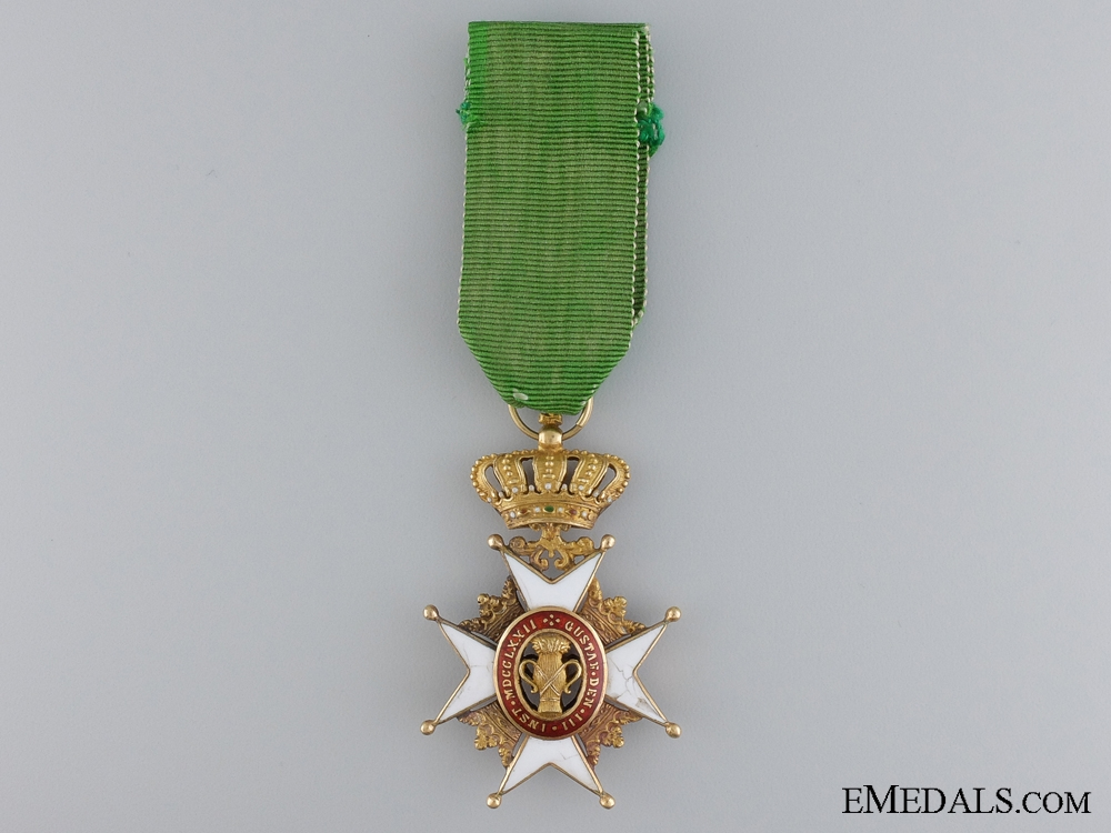 eMedals-A Swedish Order of Vasa in Gold; Knight's Badge