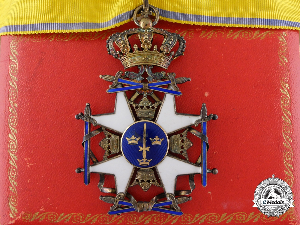 eMedals-A Swedish Order of the Sword; Commander's Cross with Case