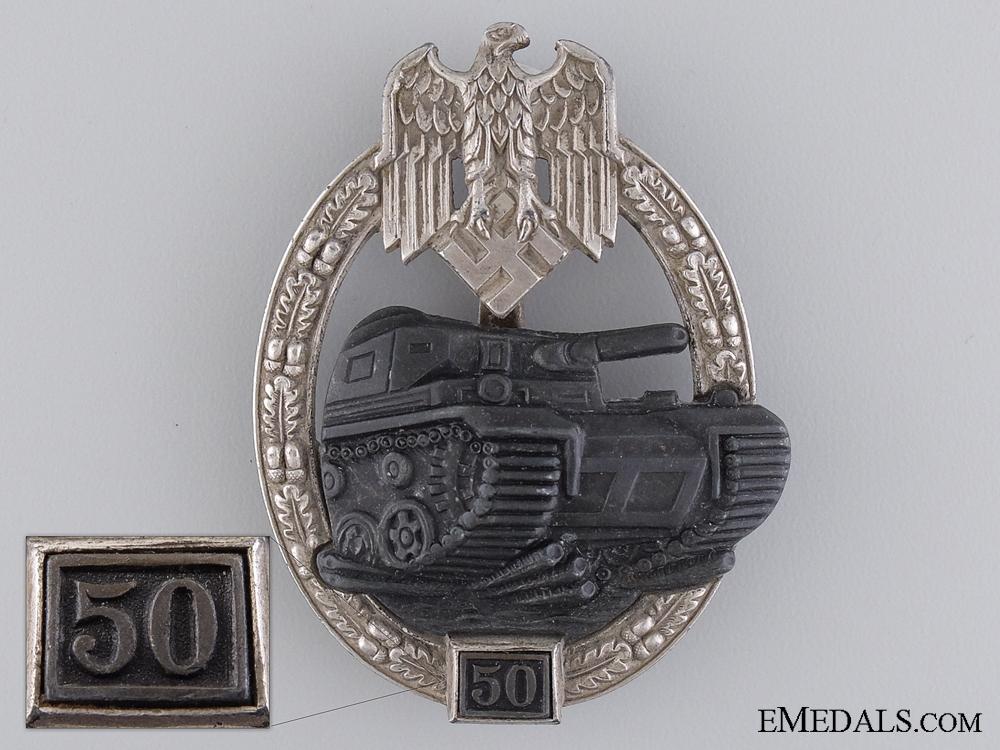 eMedals-A Tank Badge Grade III (50); Silver Grade by Josef Feix & Sohn  $3500
