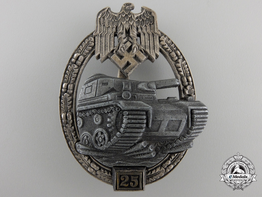eMedals-A Tank Badge Grade II; Silver Grade by JFS