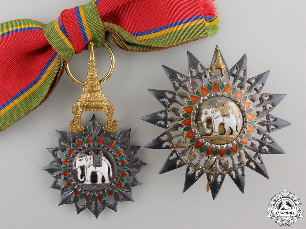 eMedals-A Thai Order of the White Elephant: Breast Star Set