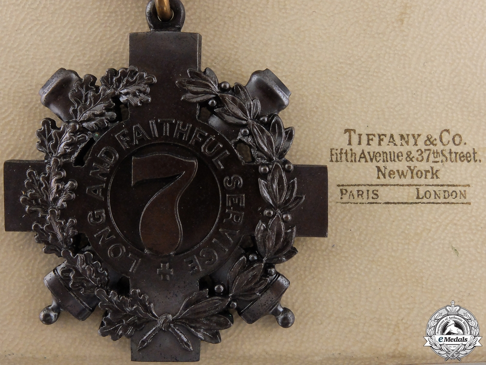 eMedals-A Tiffany Made New York 7th Regiment Long and Faithful Service Medal