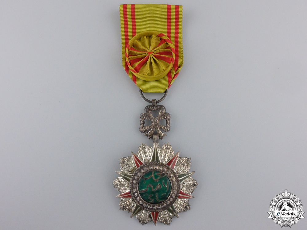 eMedals-A Tunisian Order of Nishan el Iftikar; Named to Capt. Ross